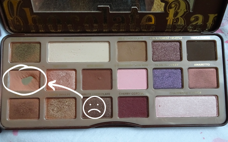 Too Faced Chocolate Bar Palette Salted Caramel Panned