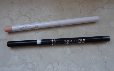 L'Oreal Infallible Never Fail Eyeliner (Black) + Colourpop Crème Gel Liner (Honeydude)