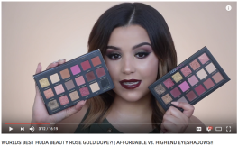 WORLDS BEST HUDA BEAUTY ROSE GOLD DUPE?! | AFFORDABLE vs. HIGHEND EYESHADOWS!! // MakeupbyAmarie
