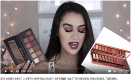 $10 NAKED HEAT DUPE?! | NEW BAD HABIT INFERNO PALETTE! REVIEW, SWATCHES, TUTORIAL // Kim Nuzzolo
