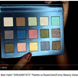 "NEW!! fr. Shop Hush-Bad Habit ""DREAMSTATE"" Palette w/Swatches!(Fenty Beauty Galaxy Palette Dupe??) // Sucre Jewel"