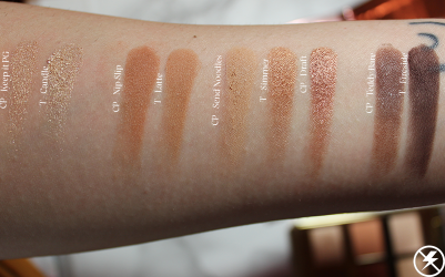Colourpop Double Entendre vs. Tarte Toasted Swatches Third Row No Flash