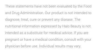 Halo Beauty FDA statement