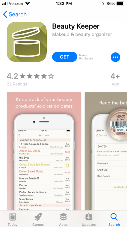 Beauty Keeper app