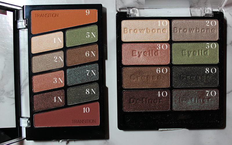 Old vs. New WnW Comfort Zone Palette Label Comparisons