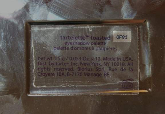 Tarte Tartelette Toasted Batch Number where to find
