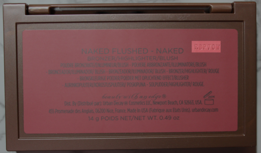 Urban Decay Naked Flushed Batch Code where to find