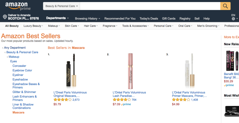Amazon Best Sellers // Best Mascara