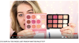 $12 DUPE for TOO FACED JUST PEACHY MATTES PALETTE?? | The Glamour Index