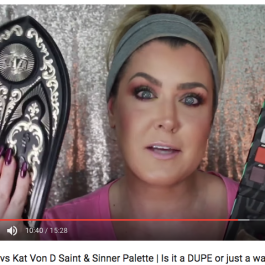FaceCandy Wild Palette vs Kat Von D Saint & Sinner Palette | Is it a DUPE or just a waste of money | Hot Mess Momma MD