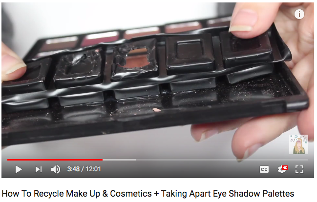 Shelbizleee // How To Recycle Make Up & Cosmetics + Taking Apart Eye Shadow Palettes