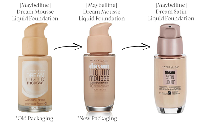 Evolution of Maybelline Dream Liquid Mousse Foundation