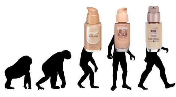 makeup evolution